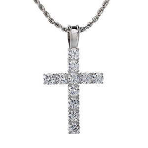Iced Out Cross Pendant