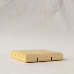 Soap dish in natural wood varnished