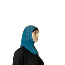 Load image into Gallery viewer, Greek Rhinestone Pattern Chiffon Shawls
