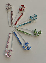 Load image into Gallery viewer, Butterfly Sparkle Pin Back Safety Pins
