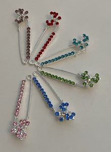 Butterfly Sparkle Pin Back Safety Pins