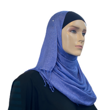 Load image into Gallery viewer, Party Hijabs with Silver Accent and Tassels