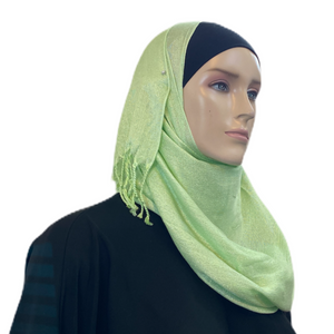 Party Hijabs with Silver Accent and Tassels