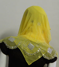 Load image into Gallery viewer, Chiffon Shawls W/Rhinestones and Studds