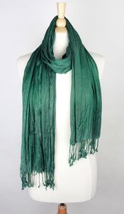 SOLID SCRUNCH SCARF COTTON SILK
