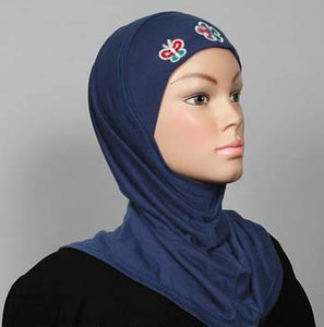 Girl's Hijab 1-Piece w/embroidery