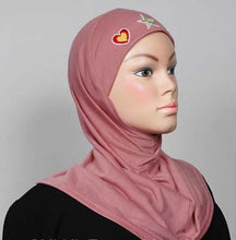Load image into Gallery viewer, Girl's Hijab 1-Piece w/embroidery