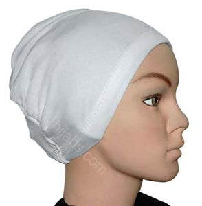 Polyester Plain Cap in White