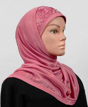 Load image into Gallery viewer, Two Piece Polyester Hijab with Beads