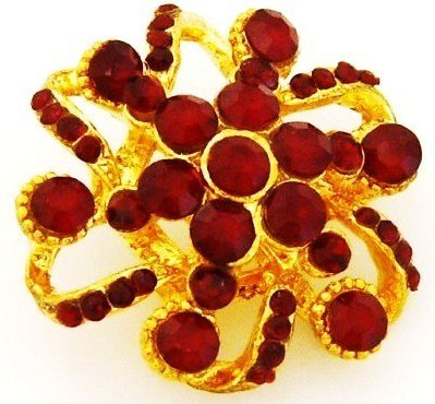 Gold Rhinestone Pin Brooch