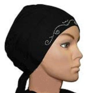 Black Cotton Bonnet