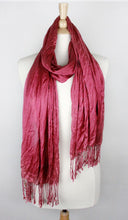 Load image into Gallery viewer, SOLID SCRUNCH SCARF COTTON SILK