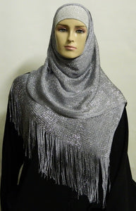 SHIMMERY LIGHT WEIGHT LONG MESH SCARF
