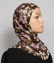 Load image into Gallery viewer, Girl's 1-Piece Gold Accent Printed Hijabs