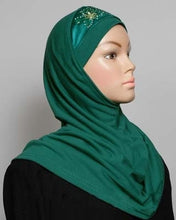 Load image into Gallery viewer, 1-Piece Amira Hijab w/Embroidery and Satin Design