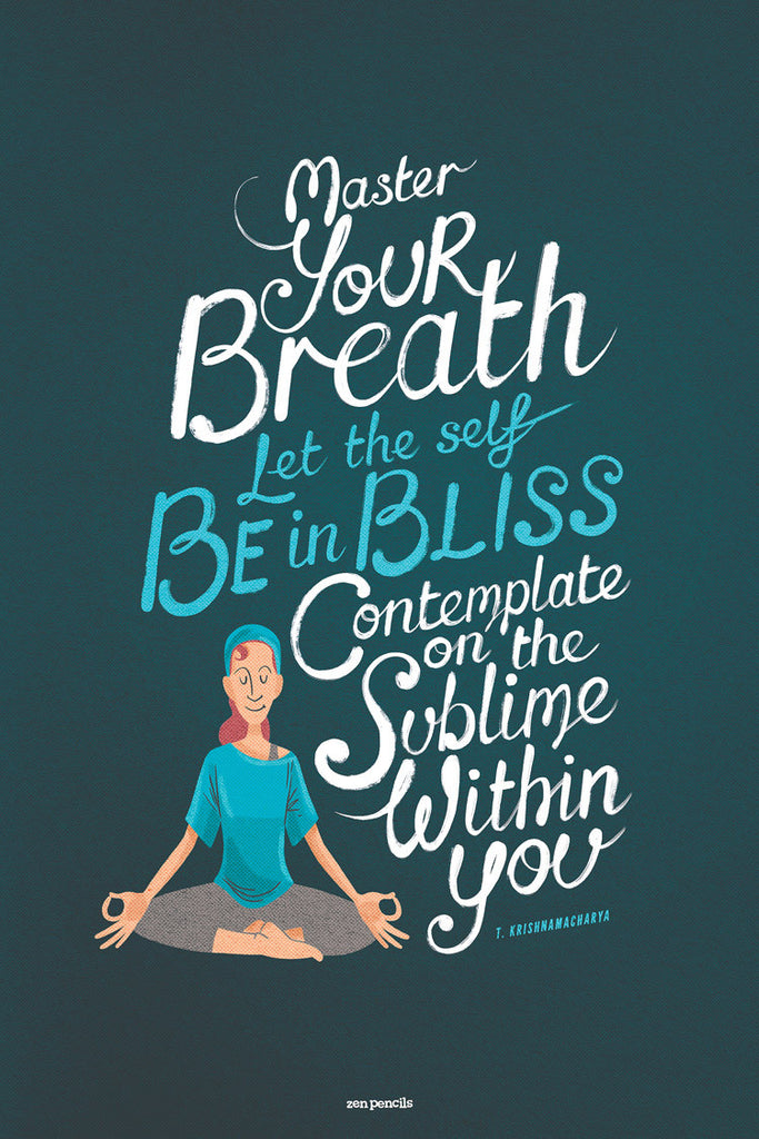 Master your breath - yoga poster