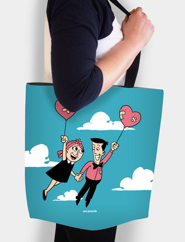 Love couple tote
