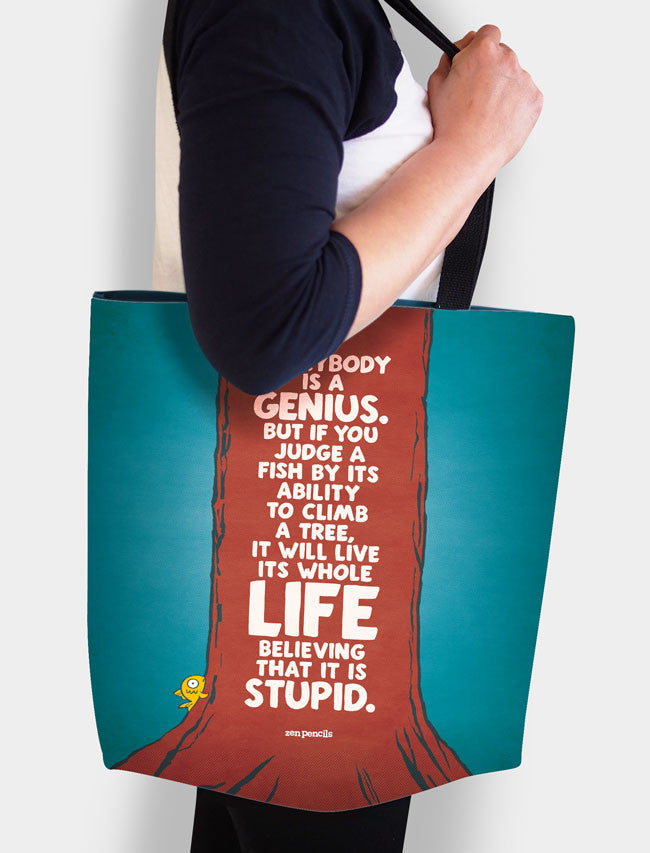 Everybody's a genius tote