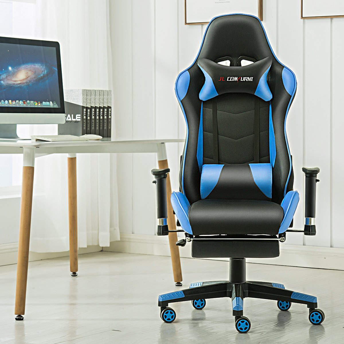 Jl Comfurni Gaming Chair Chesterfield Ergonomic Swivel Home Office Nap Prodstop Au