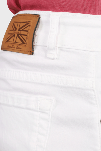 Five Pocket Stretch Pants in White