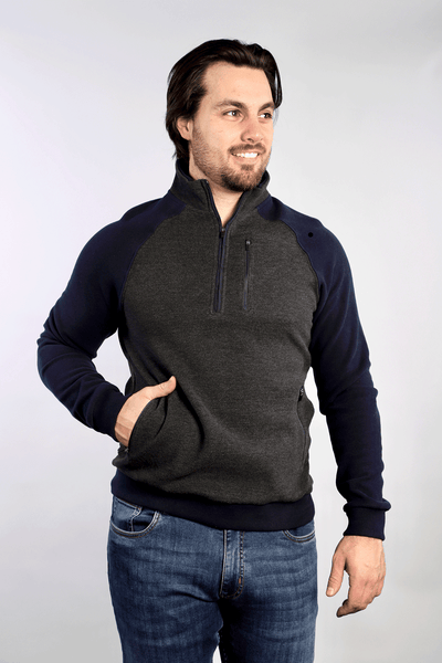 Polaris 1/4 Zip Sweater - Navy - 7 Downie St.®