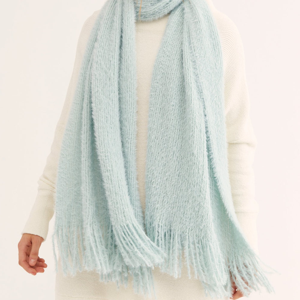 Load image into Gallery viewer, Whisper Fringe Blanket Scarf