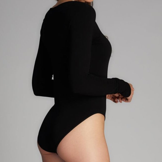 Bamboo V-Neck Bodysuit