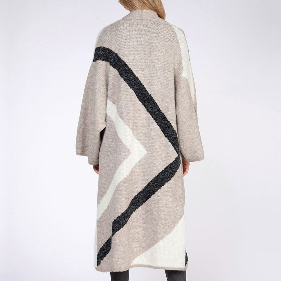 Load image into Gallery viewer, Chevron Stripe Duster Cardi