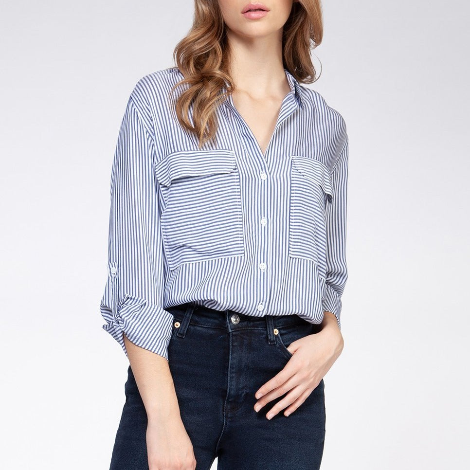 Penny Striped Button Up