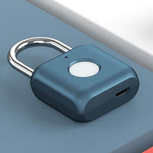 Load image into Gallery viewer, USB Waterproof Electronic Fingerprint Safety Padlock