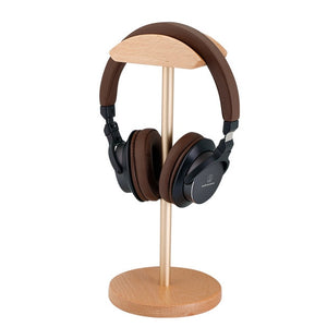 Solid Wood and Brass Headphone Stand