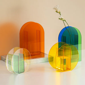 Colorful Postmodern Acrylic Vases