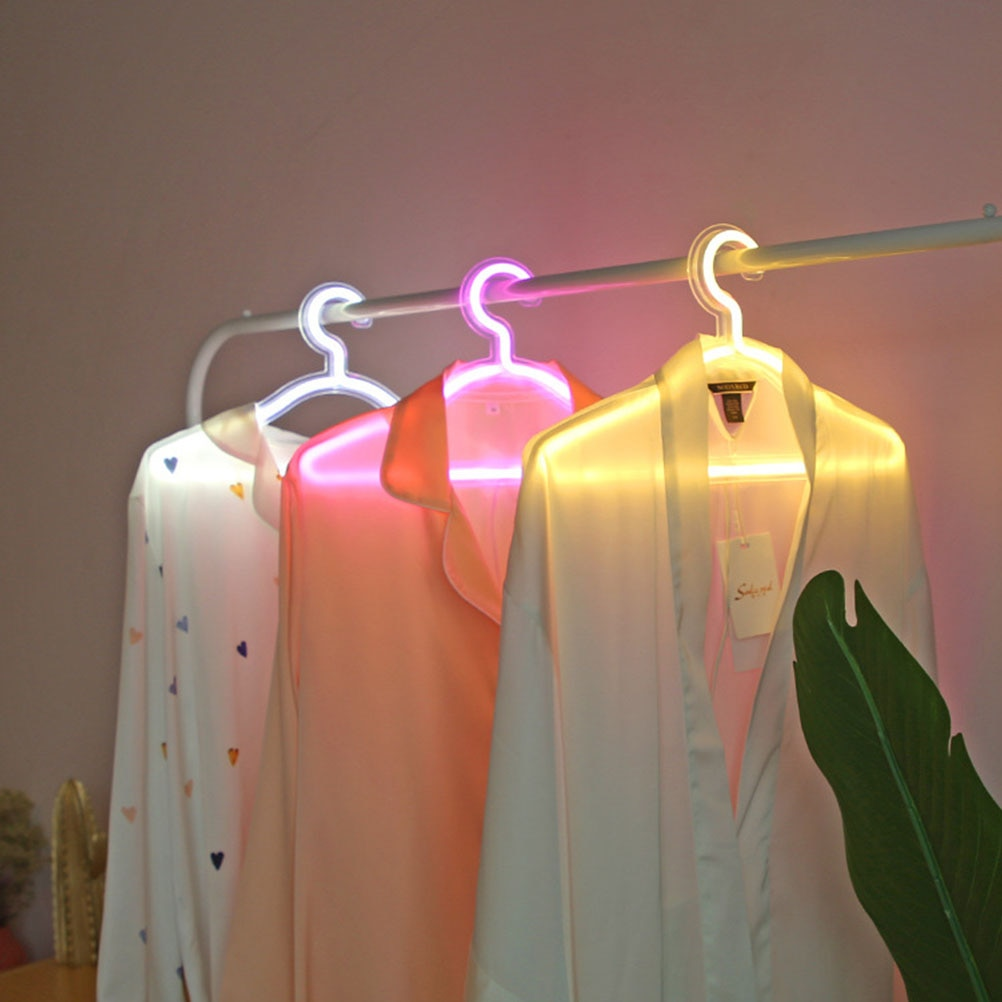 LED Neon USB Clothes Hanger