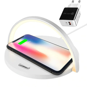 Fast Qi Wireless Charger Table Lamp
