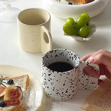 Load image into Gallery viewer, Modern Flat Handle Speckled Coffee Mug