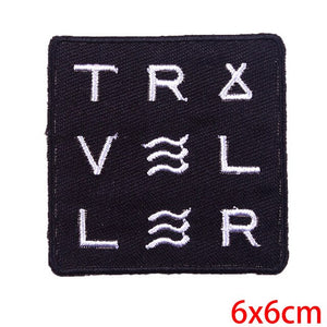 TRAVELER Modern Iron on Patch