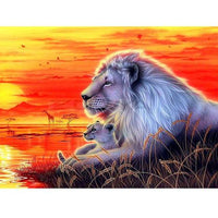 Animal Lion Paint By Numbers Kits Uk PBN90989