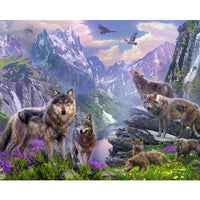Wolf Diy Paint By Numbers Kits Uk VM90224