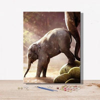 Animal Elephant Diy Paint By Numbers Kits Uk VM92287