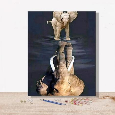 Animal Elephant Diy Paint By Numbers Kits Uk PBN92286