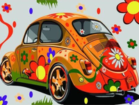 Beetle Car Diy Paint By Numbers Kits Uk ZXB733-17