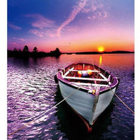 Landscape Boat Diy Paint By Numbers Kits Uk PBN91387