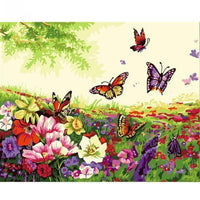 Butterfly Diy Paint By Numbers Kits UK VM97293