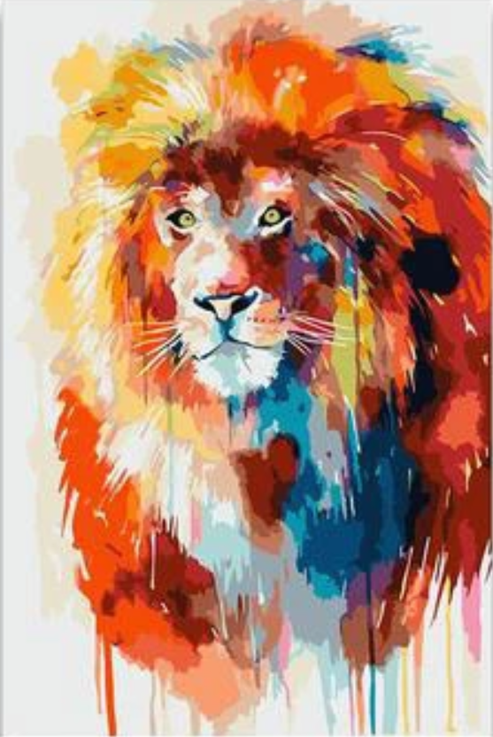 Lion Diy Paint By Numbers Kits Uk VM91624