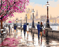 Landscape Street Diy Paint By Numbers Uk ZXQ2367-23