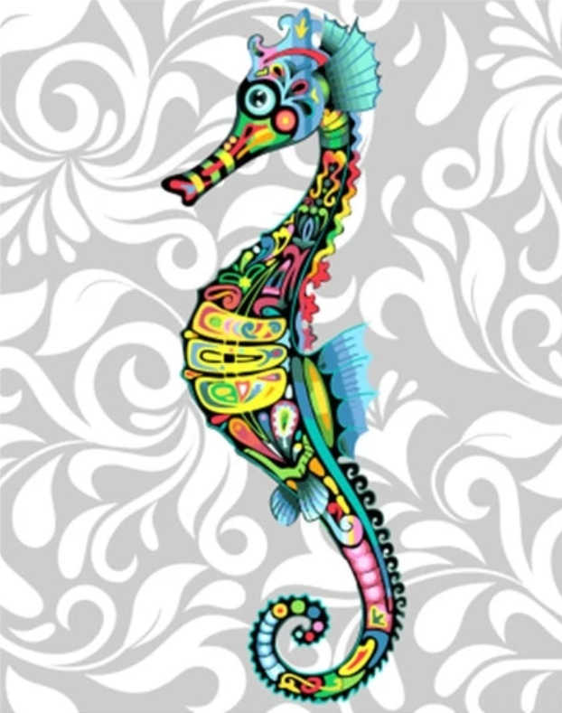 Seahorse Diy Paint By Numbers Kits UK VM97552