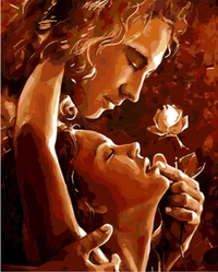 Lovers Portrait Diy Paint By Numbers Kits Uk ZXQ1617-22