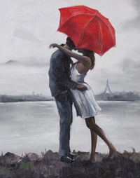 Lovers Under Umbrella Diy Paint By Numbers Kits Uk ZXQ2443-19