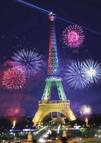 Landscape Eiffel Tower Diy Paint By Numbers Kits Uk ZXQ2322