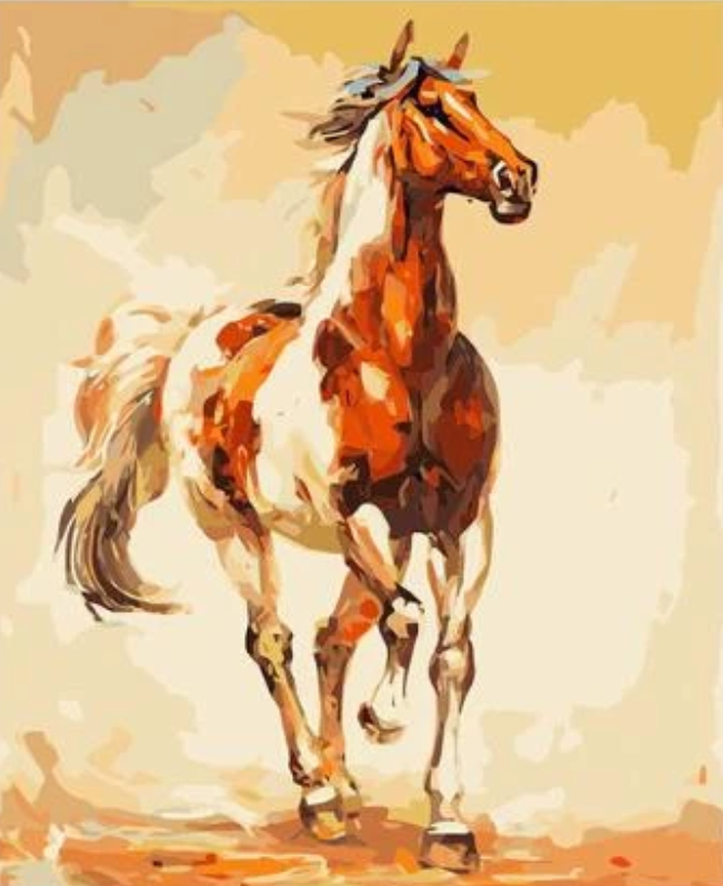 Horse Diy Paint By Numbers Kits UK PBN54002